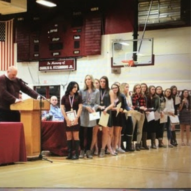 Over 120 athletes and parents gathered for fall sports awards.